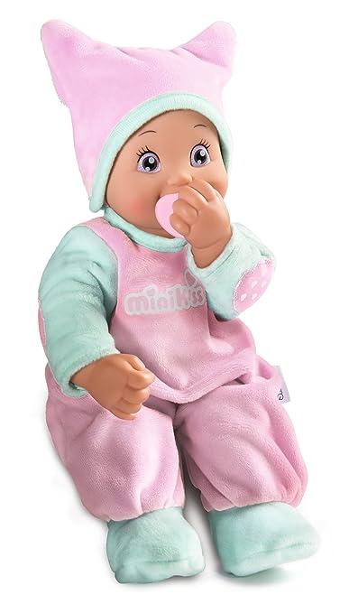 Smoby Toys-  210117- Poupée enfant électronique, Minikiss Poupon Tetine, Rose