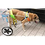 Adjustable Dog Pet Wheelchair, Hind Legs Rehabilitation, 5 Sizes (0-100lbs), Dog Cart,Wheels (L: Hip Height 20-24
