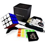 Nitrocubes Valk 3 Power M Magnetic Speed Cube Special Factory Set 3x3 Black QiYi Original Cube Bag Stand