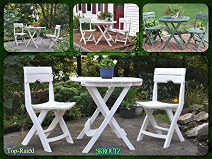 3pc Patio Furniture Set Bistro Outdoor Garden Lawn Seat Table Deck 3piece Dining 3 Piece Chair Chairs Pool Pc New Guarantee 3 Colors Green White Gray- It Only Comes with Its Unique Ebook
