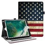 Fintie iPad 9.7 2018 2017 / iPad Air 2 / iPad Air Case - [Corner Protection] Multi-Angle Viewing Folio Cover w/Pocket, Auto Wake/Sleep for Apple iPad 6th / 5th Gen, iPad Air 1/2, US Flag (Color: ZA-US Flag, Tamaño: 9.7 Inch)