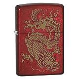 Zippo Lighter: Golden Dragon - Candy Apple Red 79095 (Color: Candy Apple Red Dragon)