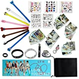 Fatyi BTS Gift Set for Amry Pens, Lomo Cards,3D Stickers, Stickers, Wristband, Phone Stand, Keychain, Ring,Lanyard, Banner and Storage Bag