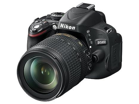 Nikon D5100 Appareil photo numérique Reflex 16.2 Kit Objectif AF-S VR 18-105 mm Noir