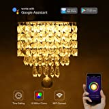 LOHAS Crystal Chandelier Lighting, 100 Watt Equivalent, 15W Multicolor Ceiling Lamp, Smart Wifi Light Bulb, 8.66'' Chandeliers Lighting Fixture, 1380LM Modern Pedant Light, Works with Alexa, 1 Pack (Color: Multicolor Ceiling Lamp, Tamaño: Wifi Smart LED Bulb)