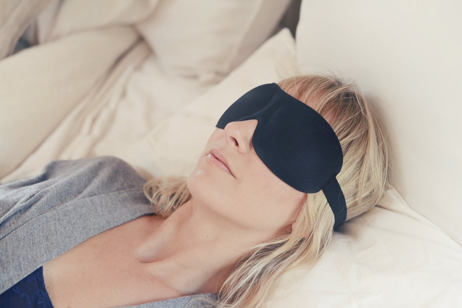 #1 Rated Patented Sleep Mask – Premium Quality Eye Mask with Contoured Shape by Nidra – Ultra Lightweight & Comfortable – Adjustable Head Strap to Fit All Sizes – Sleep Anywhere Anytime – Ideal for Men and Women – Great for Travelers – Sleep Satisfaction Guaranteed