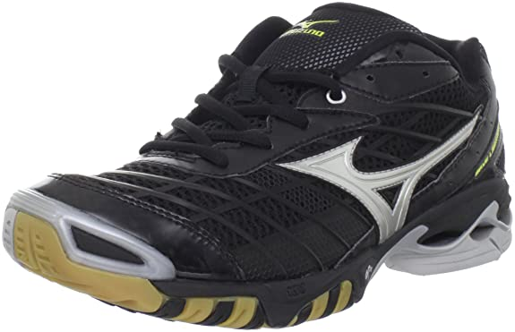 Mizuno Volleyball Shoes Black And Silver Shoe,black/silver,11