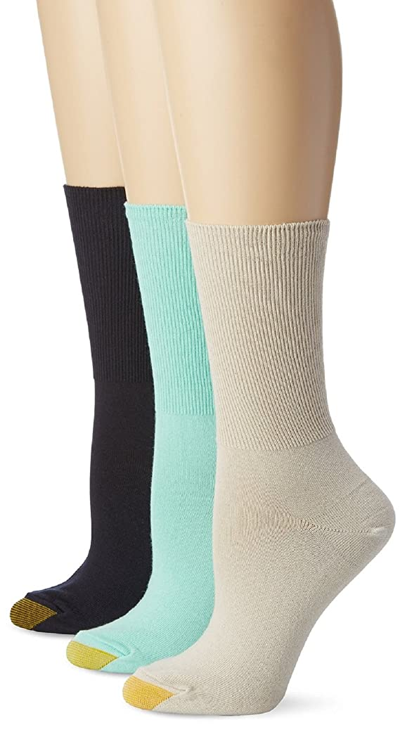 Gold Toe Women's Lacey Crew Socks 3pk