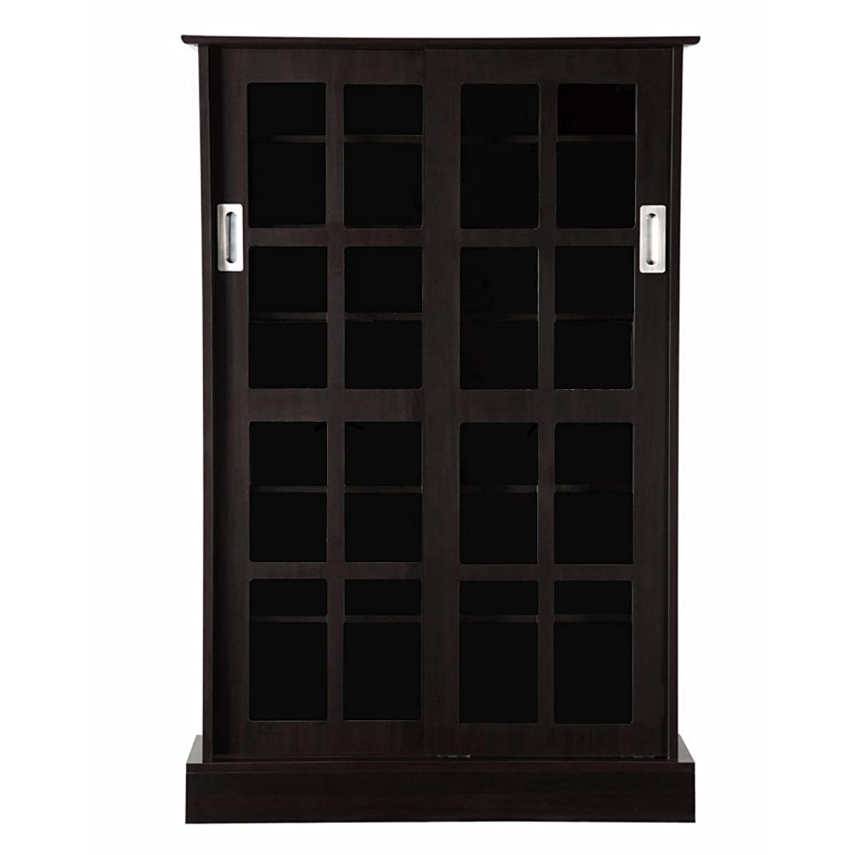 Atlantic 94835721 Glass Door Cab Espresso