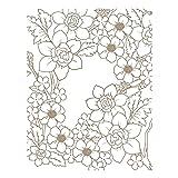 Spellbinders GLP-092 Flower Pattern Glimmer Hot Foil Plate Metal (Color: Metal)