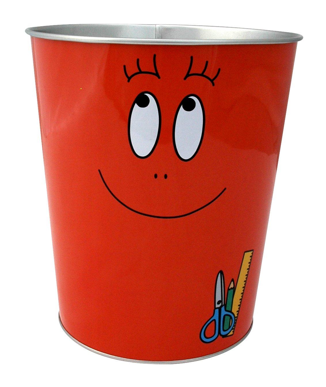 Barbapapa – Retro Blech Papierkorb – Barbawum Rot günstig bestellen