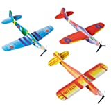 Rhode Island Novelty Foam 8-Inches Flying Glider Plane 48-Units per pack (1-Pack)
