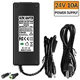 LED Power Supply Adapter 24V 10A - 240W AC/DC Power Adapter Transformer (Color: 24V 10A led transformer, Tamaño: 24V 10A)