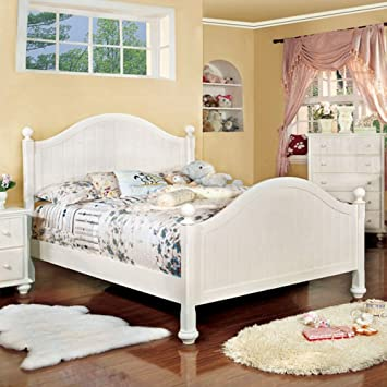 Youth Panel Bed Cottage Curved panel footboard headboard Twin Size