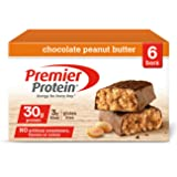 Premier Protein Nutrition Bar, Chocolate Peanut Butter, 30g Protein, 2.53 Ounce Bars (6 count in 1 Box) (Color: Chocolate Peanut Butter, Tamaño: 6 Bars)
