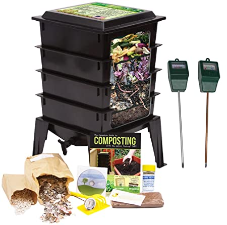 This Composter Comes Complete With Four Trays (can Expand Up To Eight) For  Making Nutrient Rich Compost At Home. It Uses The Power Of Worms To Break  Down ...
