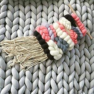 Arm Knitting Yarn, Hand Knitting, Arm Knit Yarn, Bulky Yarn, Jumbo Yarn, Giant Yarn,Cotton Tube Yarn, (Grey, 3.5 lbs) (Color: Grey, Tamaño: 3.5 lbs)