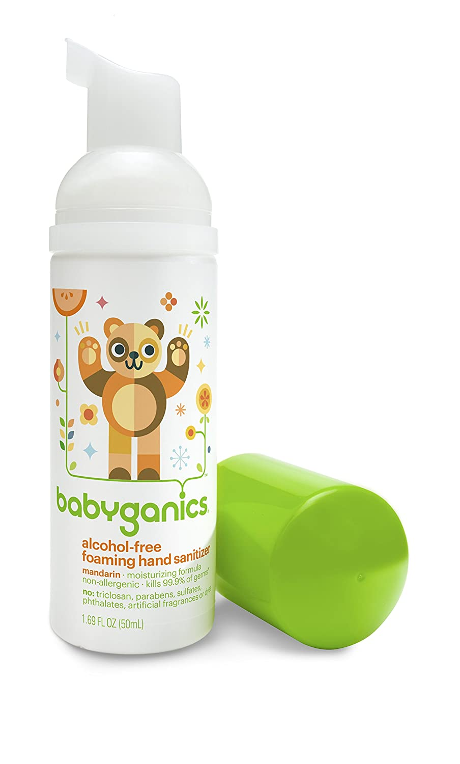 BabyGanics Alcohol Free Foaming Hand Sanitizer On-the-Go, Fragrance Free, Packaging May Vary babyganics 50ml 2016 10