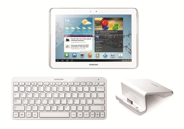 White Samsung Keyboard Dock for Galaxy Tab 10.1