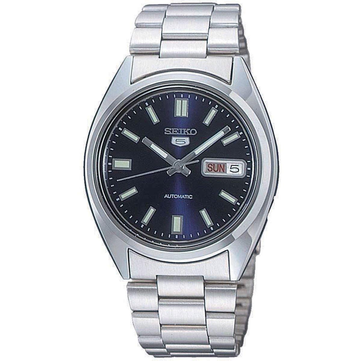 Seiko Herren-Armbanduhr XL Analog Automatik Edelstahl SNXS77K