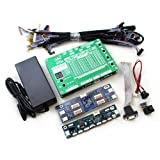 New 6th Generation Monitor Laptop TV LCD/LED Panel Tester 60 Programs w/ VGA DC LVDS Cables Inverter LED Board 12v 4a Adapter (Tamaño: Small)