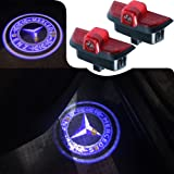 For Mercedes Benz C Class, JKCOVER Car Door LED Welcome Projector Blue Circle Logo Ghost Shadow Door Light - 2pcs