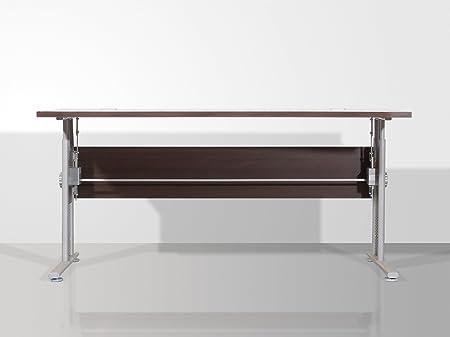 Mesa de escritorio avellino 160 cm con C-pie, wengefarben/silber, B160 x H70-80 x T80cm