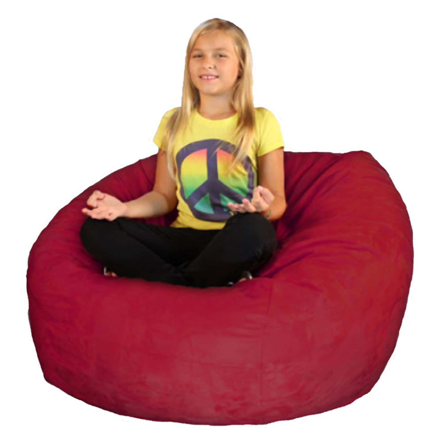 Bean Bag Chair Premium Cozy Foam Filled Cozy Bean Bag Small Cinnabar