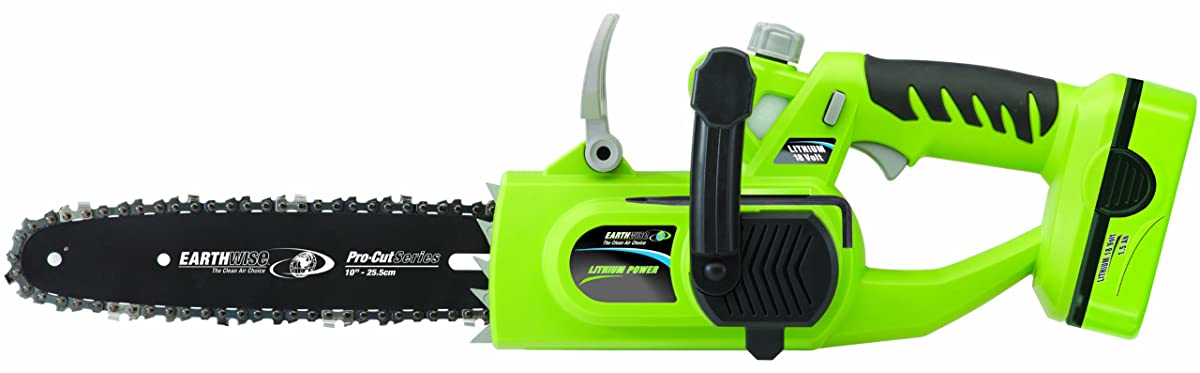Earthwise LCS31010 10-Inch 18-Volt Lithium Ion Cordless Electric Chain Saw
