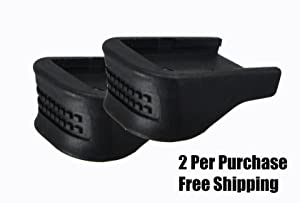 Garrison Grip TWO .75 Inch Grip Extensions Fits Glock 17 18 19 22 23 24 25 31 32 34 35 37 38 (Color: Charcoal, Tamaño: 2 Pack)