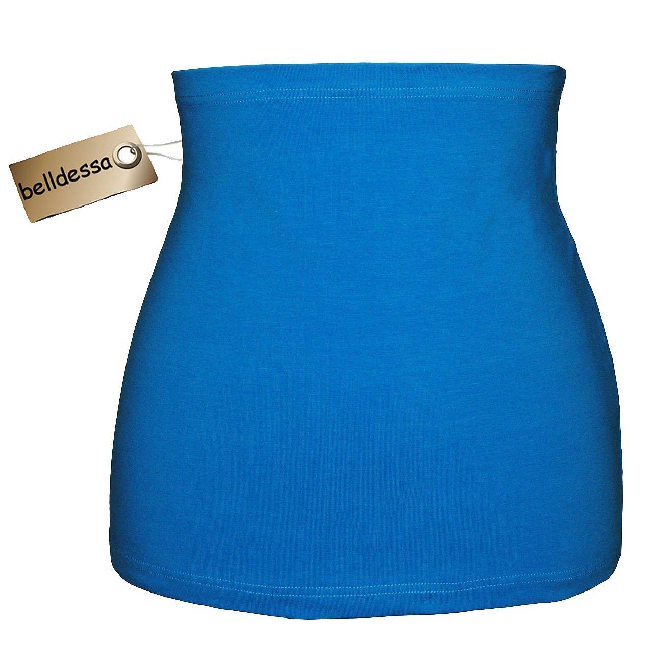 Jersey Baumwolle - azur / türkis blau - Nierenwärmer / Rückenwärmer / Bauchwärmer / Shirt Verlängerer - Größe: Männer XXL - ideal auch für Blasenentzündung und Hexenschuss / Rückenschmerzen