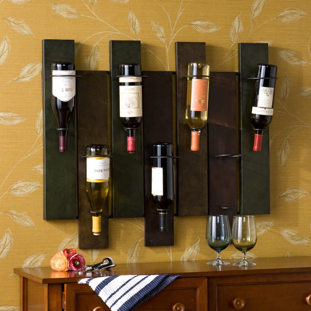 Amazon.com - SEI Navarra Wall Mount Wine Rack - Wall Wine Holder