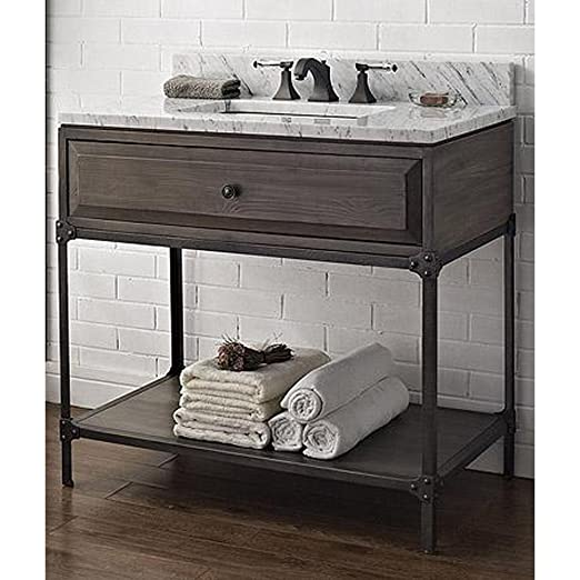 Fairmont Designs 36 Inch Toledo Open Shelf Vanity - Driftwood Gray