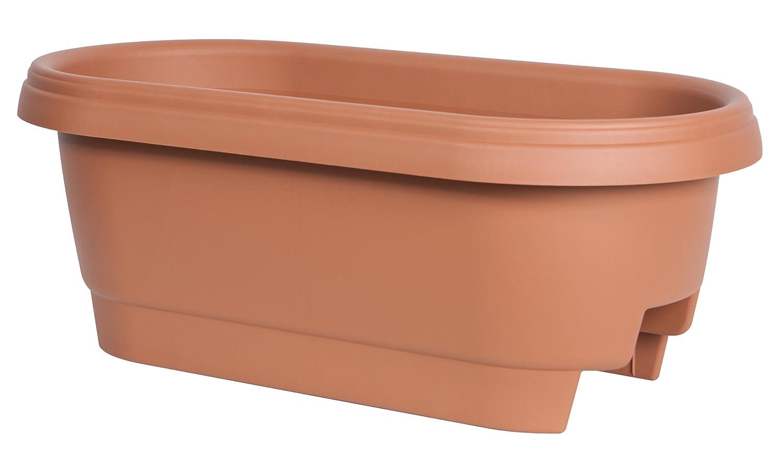 Fiskars deck rail planter 24 inch plans flower outdoor garden yard patio pot - Deck rail planters lowes ...