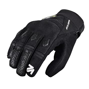 V Quattro Design V4G-RIDE-BKXXL Gants de Moto Ride, Noir, 11