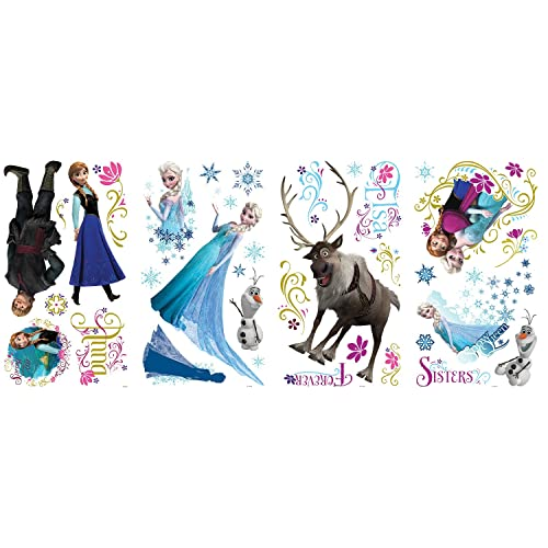 RoomMates RMK2361SCS Frozen Peel and Stick Wall Decals 36 Count