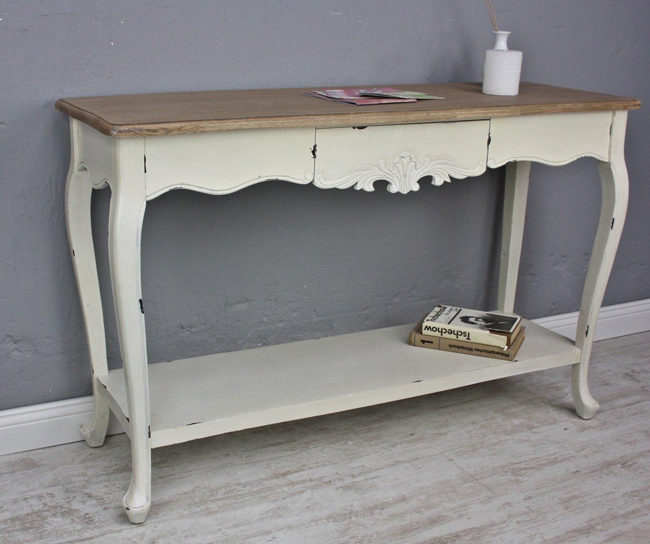 Konsole Sekretär weiß braun antik Landhaus Holz Tisch Anrichte Flur ...