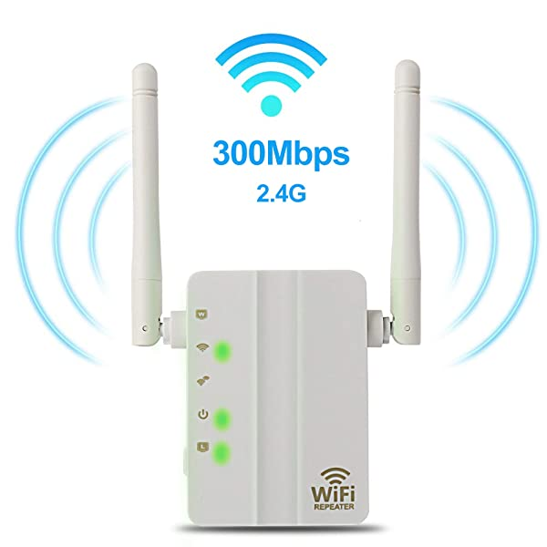 WiFi Range Extender - 300Mbps WiFi Extender Repeater/Access Point/Router Dual Band 2.4GHz Wireless Signal Booster & Gigabit Ethernet Port WiFi Range Amplifier 2 External Antennas Internet Extender (Color: 300Mbps, Tamaño: WiFi Range Extender 300Mbps)