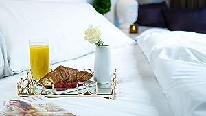 Lucaslo Tray Vanity Mirror Tray Coffee Table Tray Wedding Centerpiece Bathroom Decor Accent Table Tray Perfume