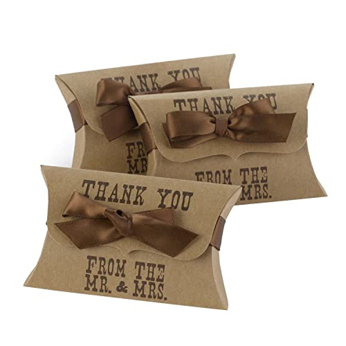 Hortense B Hewitt Western Style Pillow Favor Boxes 25-Pack
