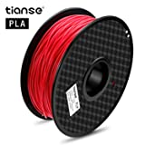 TIANSE Red PLA 3D Printer Filament, 1 kg Spool, 1.75 mm, Dimensional Accuracy +/- 0.03 mm (Color: Red)