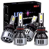 Scitoo 9006+9005 LED Headlight Bulbs 60W/pair 8000K White Xenon LED Cooling Bulbs Fog Light Direct Placement All-in -one, 1 Years Warranty (Color: 9005+9006)