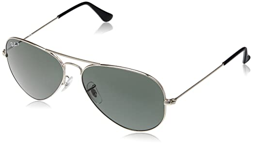 aviator sunglasses silver  Ray-Ban Aviator Sunglasses (Silver) (RB3025 003/5858): Amazon.in ...