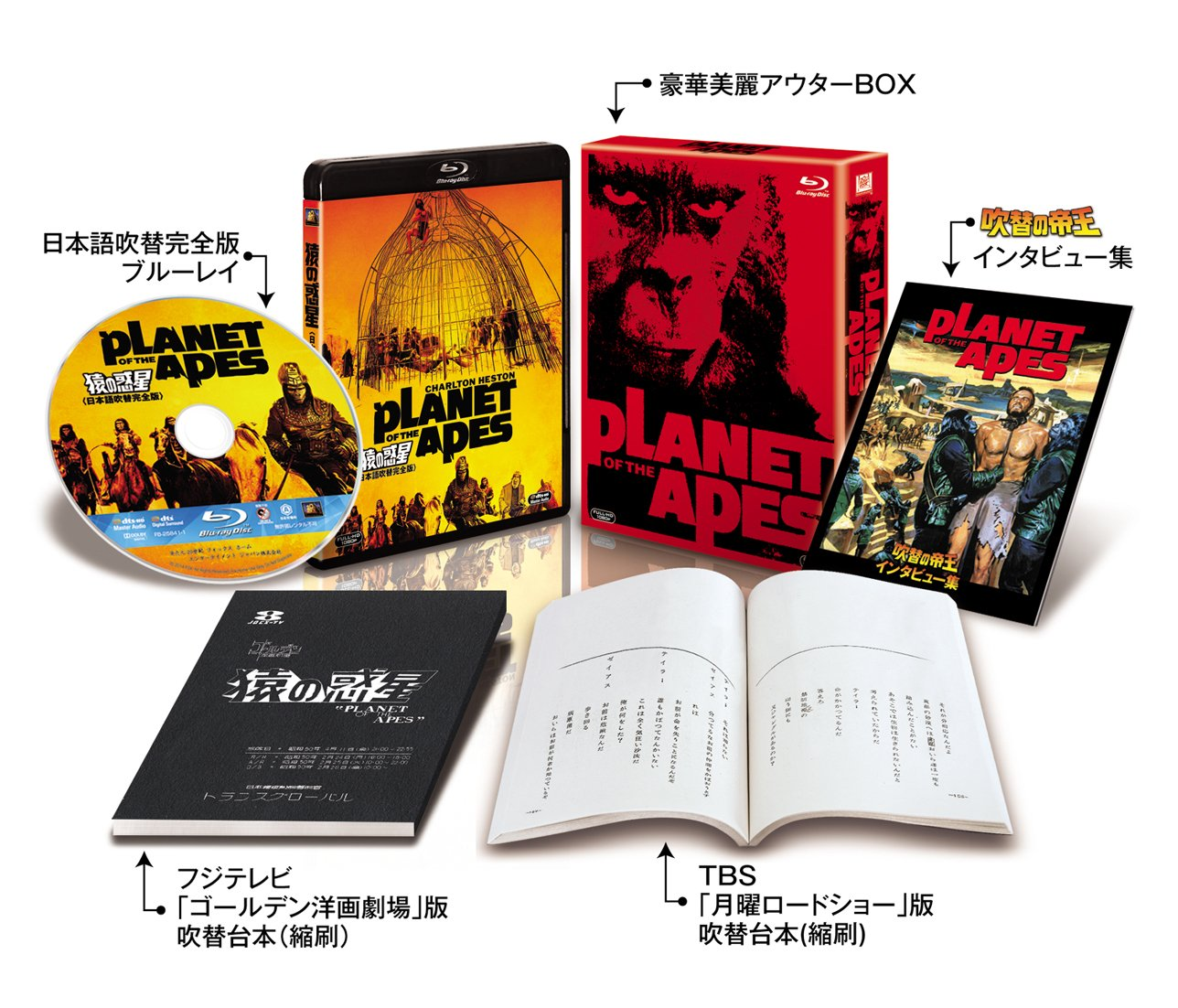 猿の惑星(日本語吹替完全版)コレクターズ・ブルーレイBOX