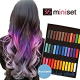 Temporary Hair Dye Color Non-Toxic Soft Pastels Chalk Colourful Hair Chalk Pens. Temporary Colour for Girls for All Ages. Makes a Great Birthday Gift (12 color) (Tamaño: 12 color)