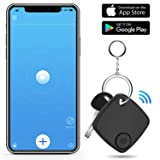 Key Finder Smart Tracker - Key Finder Locator with App for Phone - Bluetooth Phone Finder Wallet Tracker for Keychain Bag Purse Luggage - Anti Lost Tracking Device Item Finder (Black) (Color: Black)