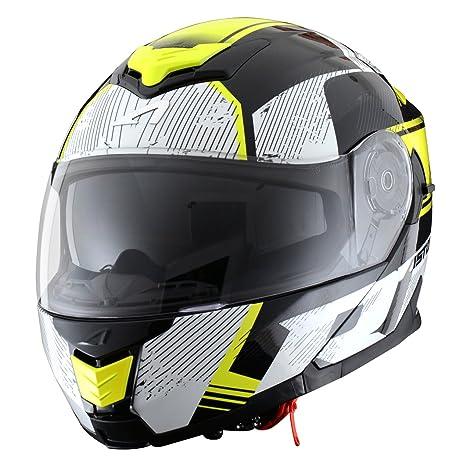 Astone Helmets RT1200G-VIBYL Casque RT 1200 Vip, Noir/Jaune, L