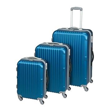 9288b890de58a Princess Traveller Koffer San Francisco Koffer Set 3 Stück 77 mm 104 liters  (Blau) 30010140470406