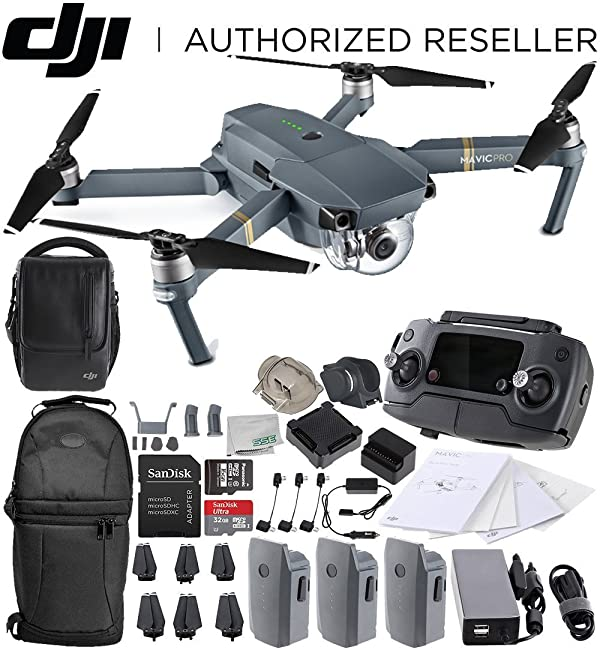 56a8fccad8a DJI Mavic Pro FLY MORE COMBO Collapsible Quadcopter Drone Starters Backpack  Bundle