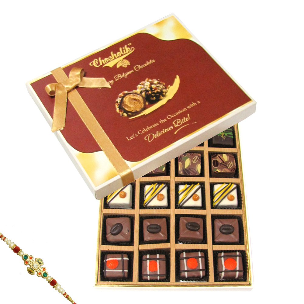 deals on Rakhi Gifts - Delectable Choco Surprise With Rakhi - Chocholik Belgium Chocolates